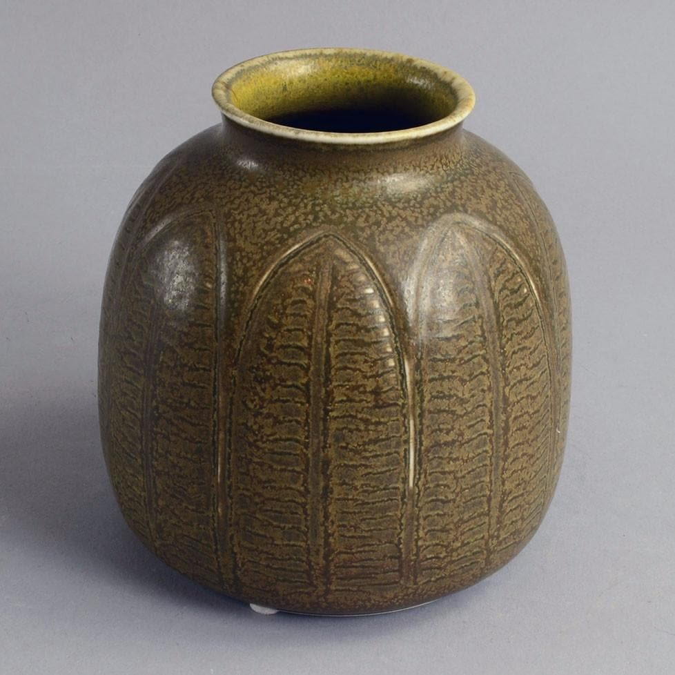 Stoneware vase by Gerd Bogelund for Royal Copenhagen