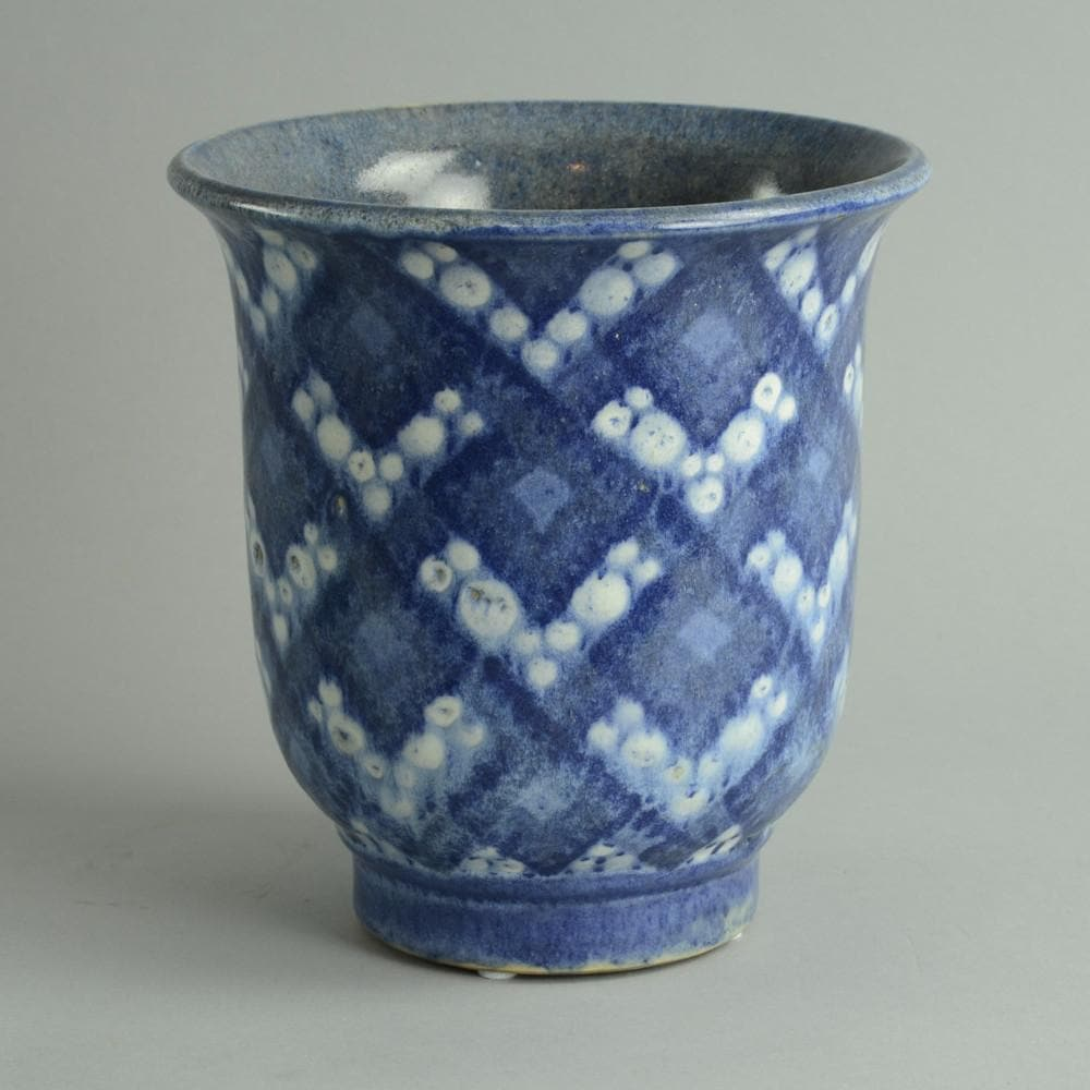 "Earthenware ""faience"" vase BY Andre Plantard"