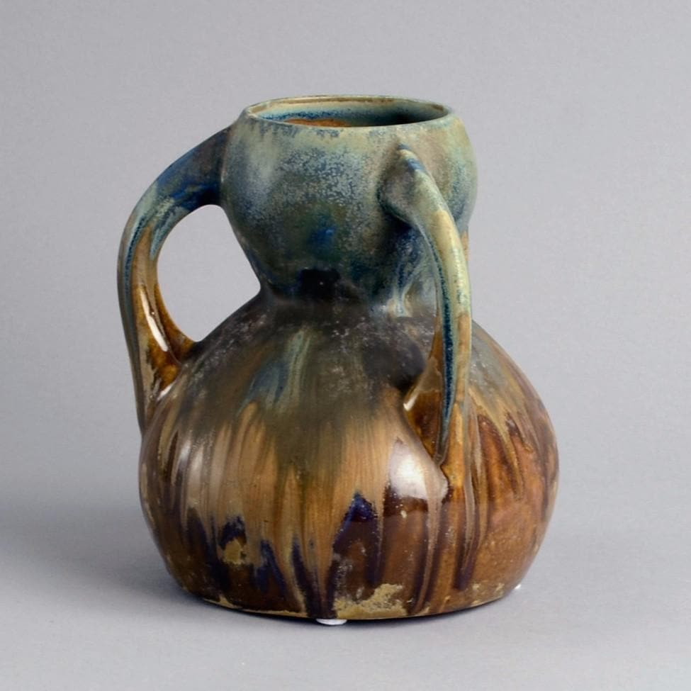 Unique stoneware vase by Gilbert Méténier