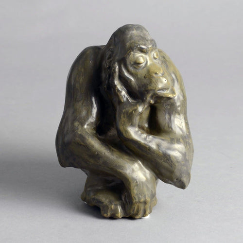 Sculpture of Ape by Knud Kyhn for Royal Copenhagen N9687