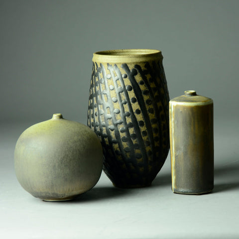 Group of vases by Ingrid and Bruno Asshoff
