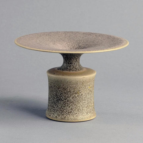 Stoneware vase with speckled matte gray glaze by Heike Reimers