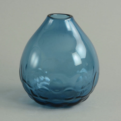 """Expo"" vase in blue glass by Sven Palmqvist N6083"