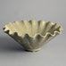 Ruffled bowl with white glaze by Arne Bang