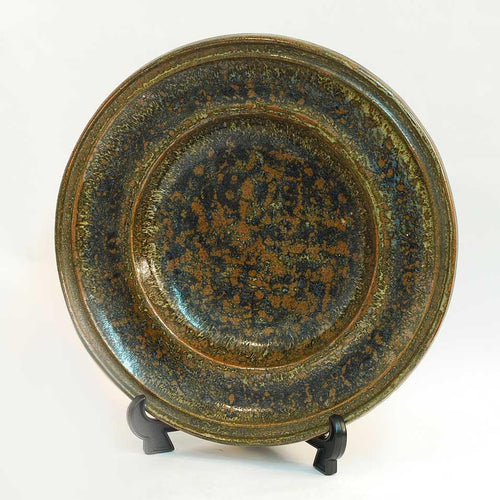 Unique stoneware dish by Erik Ploen