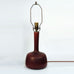Stoneware lamp with oxblood glaze by Gerd Bogelund