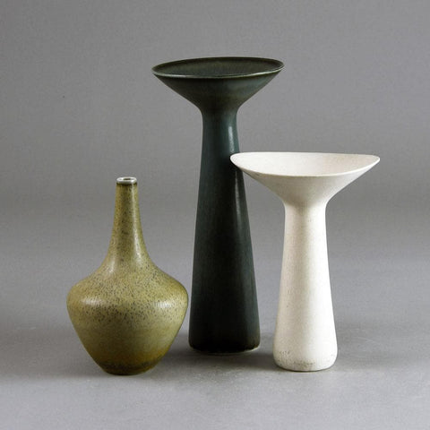 Three vases by Carl Harry Stalhane and Gunnar Nylund