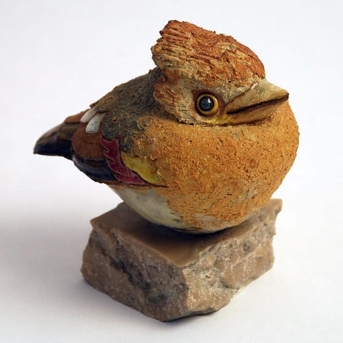 Unique stoneware bird by Tyra Lundgren N7665