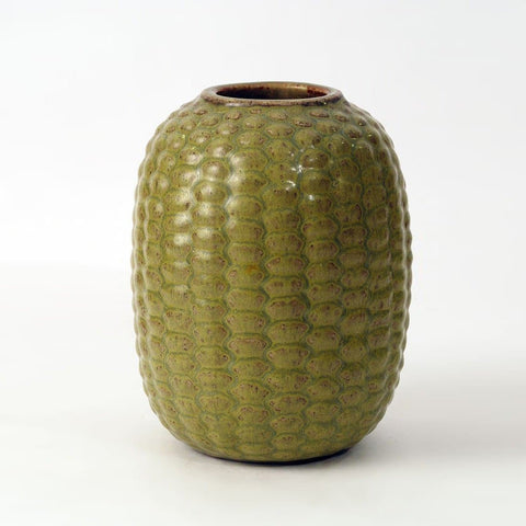 Axel Salto budding vase with Solfatara glaze  for Royal Copenhagen