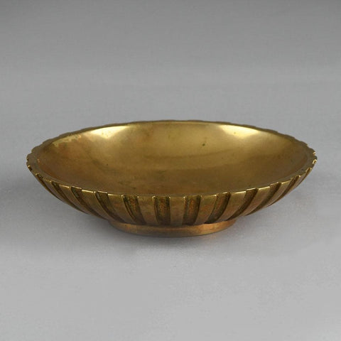 Tinos Danish bronze fluted bowl for sale