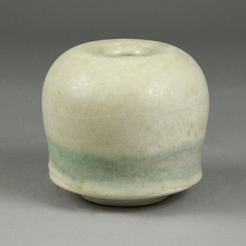 Horst Kerstan, Germany, vase with matte white and green glaze F8028
