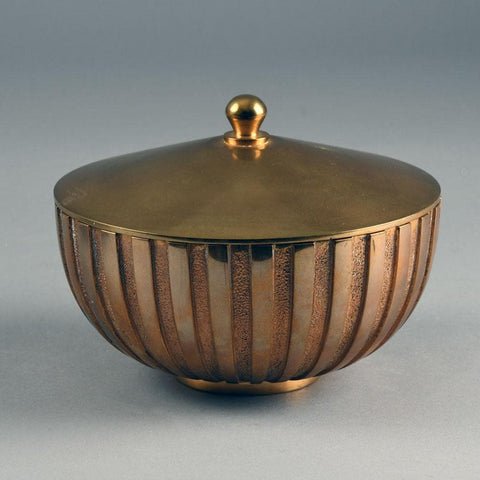 Tinos, Denmark fluted bronze bowl with lid, 1930s E7337
