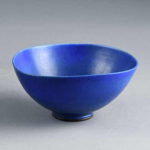 Berndt Friberg for Gustavsberg, bowl with blue haresfur glaze for sale