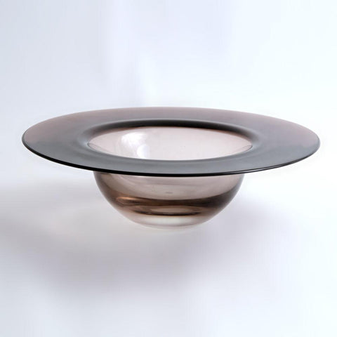 "Glass ""Cardinal's Hat"" bowl Timo Sarpaneva for Iittala"