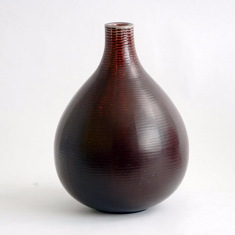 Oxblood Axel Salto vase for Royal Copenhagen