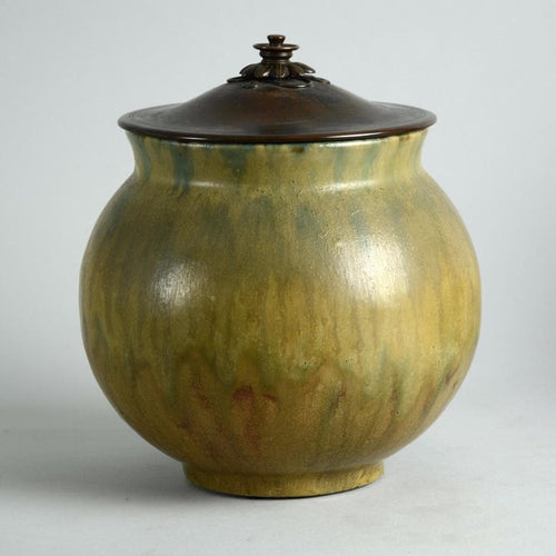 Lidded jar by Patrick Nordstrom for Royal Copenhagen N8342