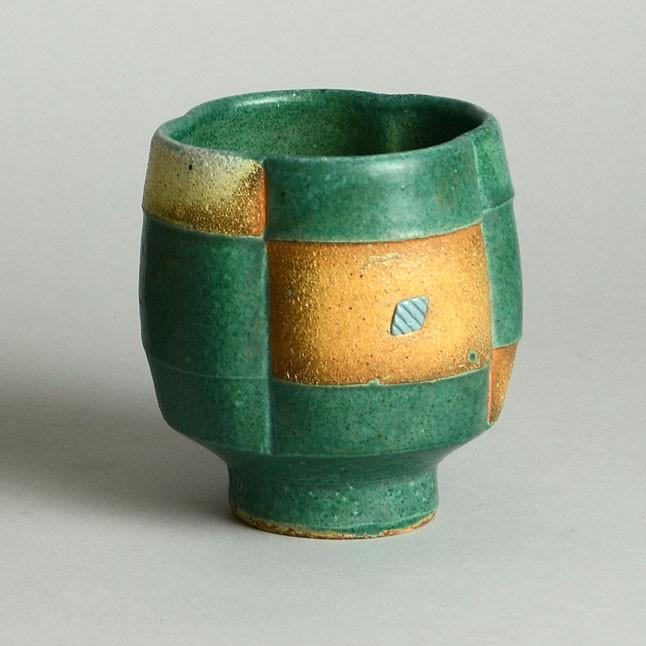 Unique stoneware tea bowl Jeff Oesterich