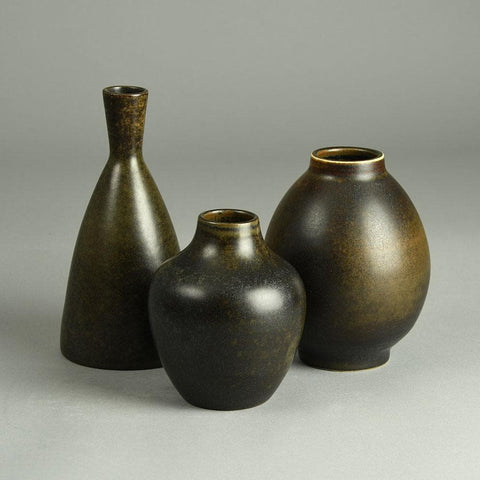 Triller Tobo vase with brown glaze for sale