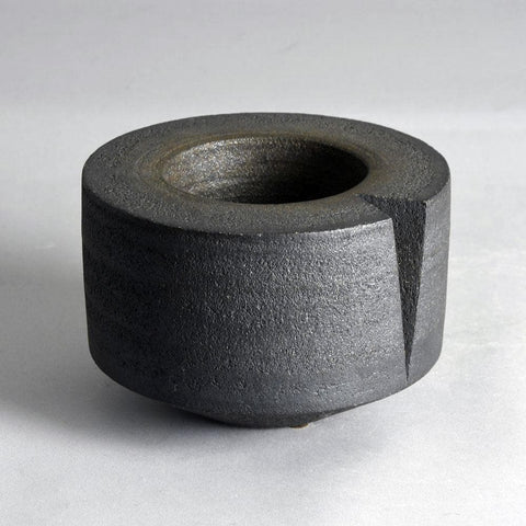 Uwe Lerch, Germany, heavy stoneware bowl with black glaze