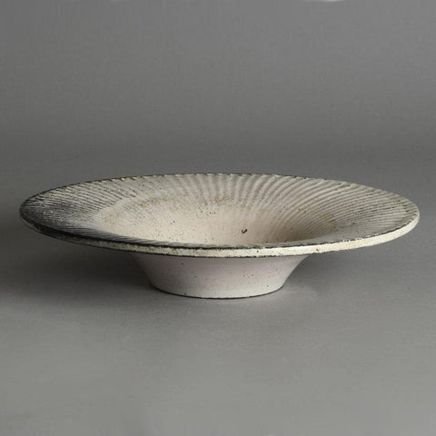 Svend Hammershoj for Kahler Keramik, large bowl with black and white glaze
