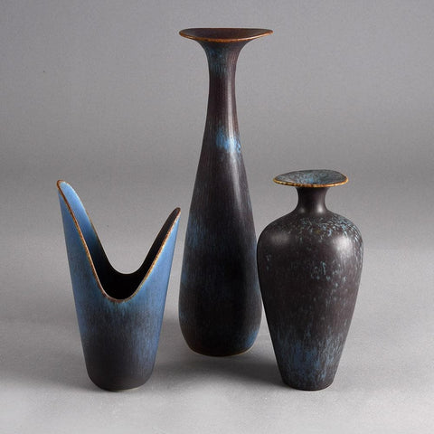 Group of blue vases by Gunnar Nylund for Rorstrand