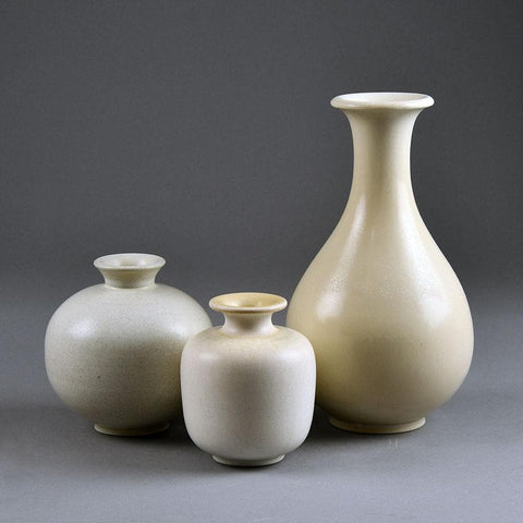 Group of white vases by Gunnar Nylund for Rorstrand