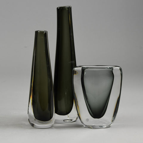 Group of sommerso vases by Nils Landberg for Orrefors