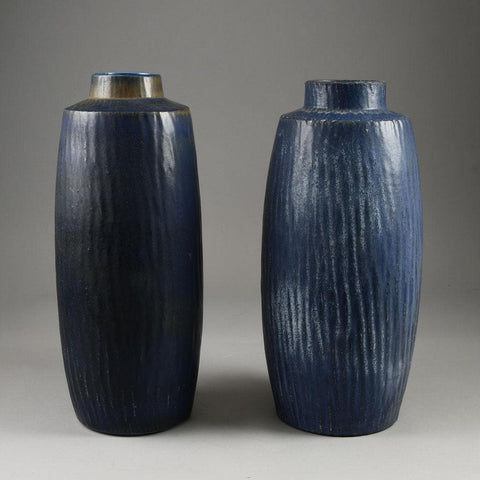 Pair of Rubus large stoneware vases by Gunnar Nylund for Rorstrand