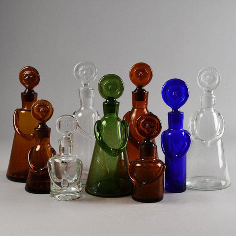 Erik Hoglund for Boda Åfors, set of nine decanters