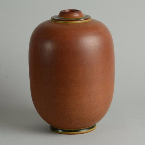 Unique stoneware vase by Erich and Ingrid Triller for Tobo N9297