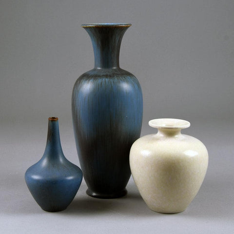 Group of blue and white vases by Gunnar Nylund for Rorstrand