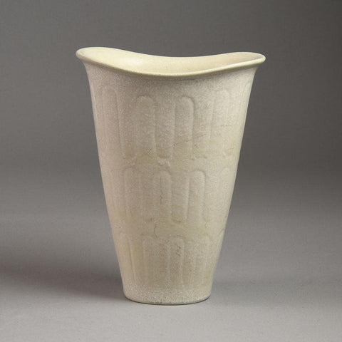 Gunnar Nylund for Rorstrand vase with matte white glaze F8132