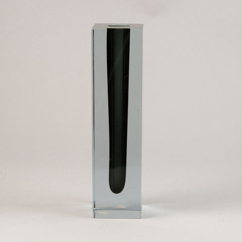 Round vase with applied twig by Arne Bang