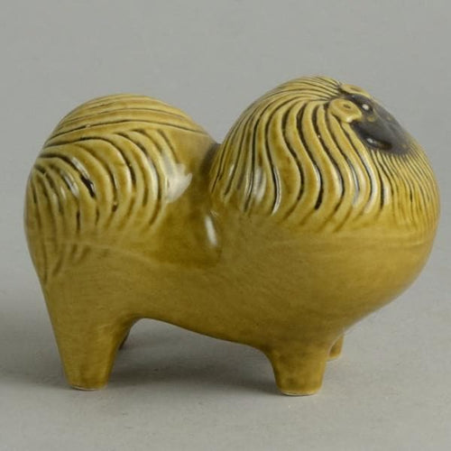 Stoneware figure of a Pekingese dog by Lisa Larson N9283