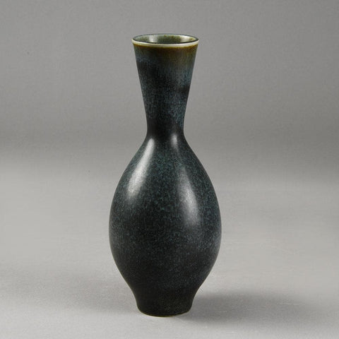 Carl Harry Stalhane for Rorstrand, unique vase with mottled dark blue glaze F8073