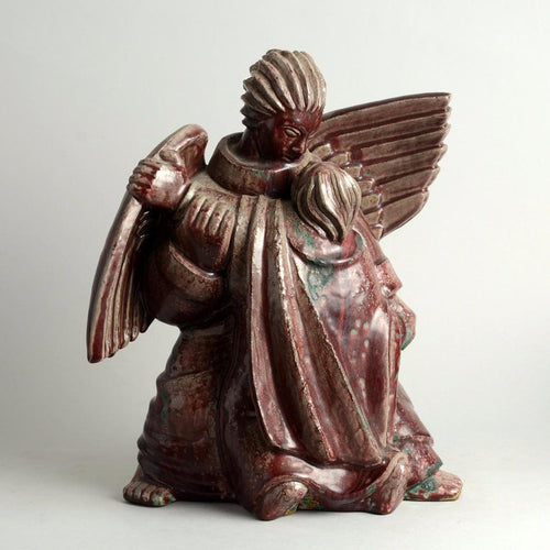 """Jacob and the Angel"" Sculpture by Jais Nielsen for Royal Copenhagen N5781"