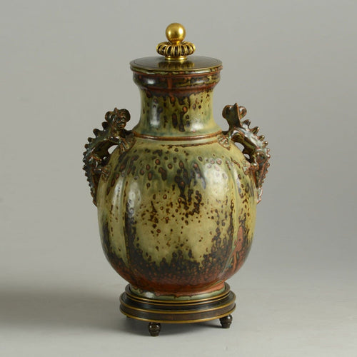 Stoneware jar by Bode Willumsen for Royal Copenhagen N9413