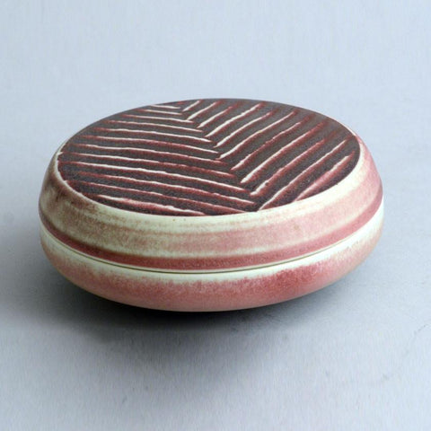 Unique stoneware lidded dish by Karl Scheid