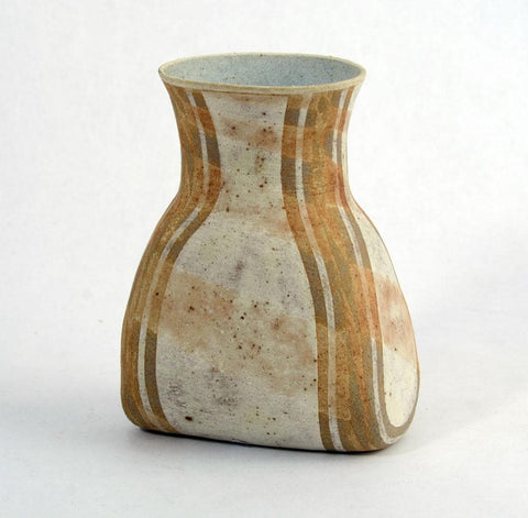 Stoneware vase with matte brown glaze by Elizabeth Fritsch
