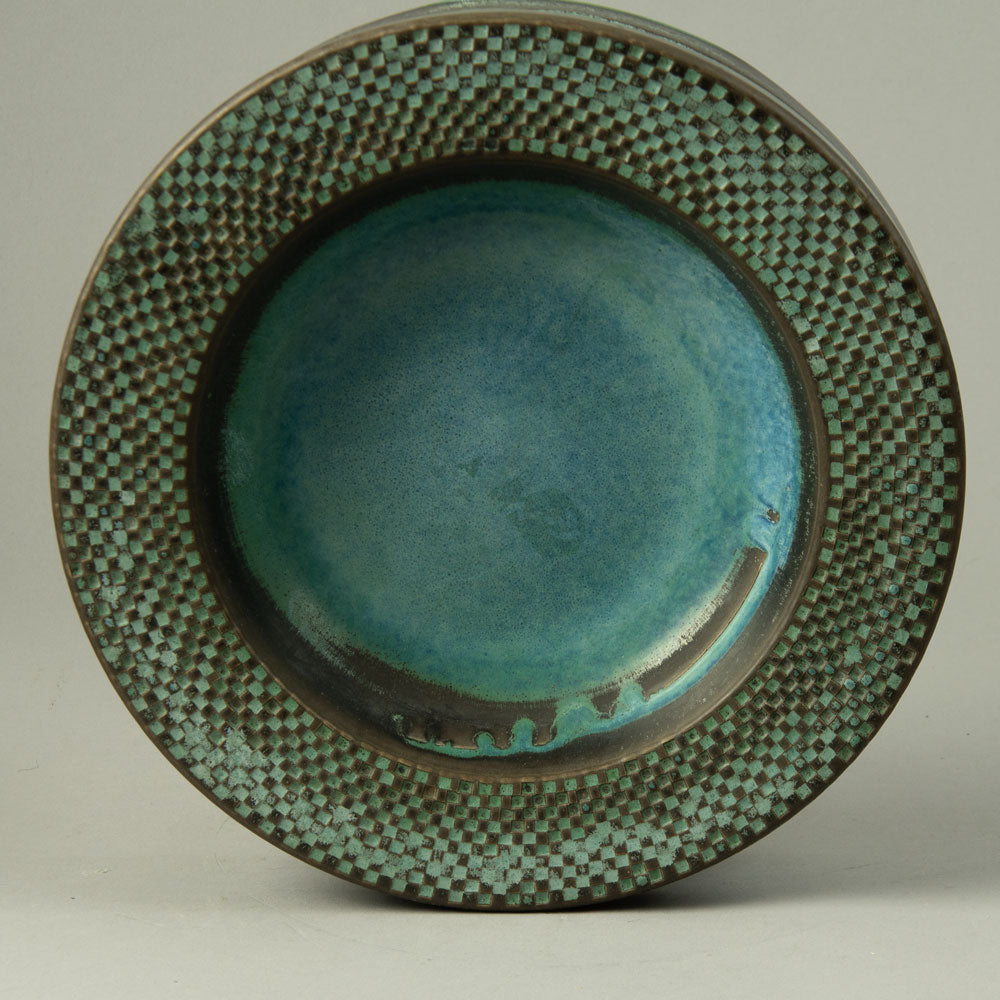 Unique stoneware sculptural vase by Karl Scheid