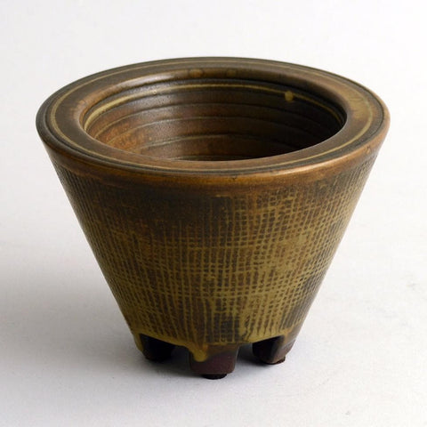 """Farsta"" footed vase by Wilhelm Kage for Gustavsberg"