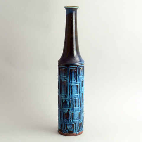 "Very tall, unique stoneware ""Farsta"" vase by Wilhelm for Gustavsberg"