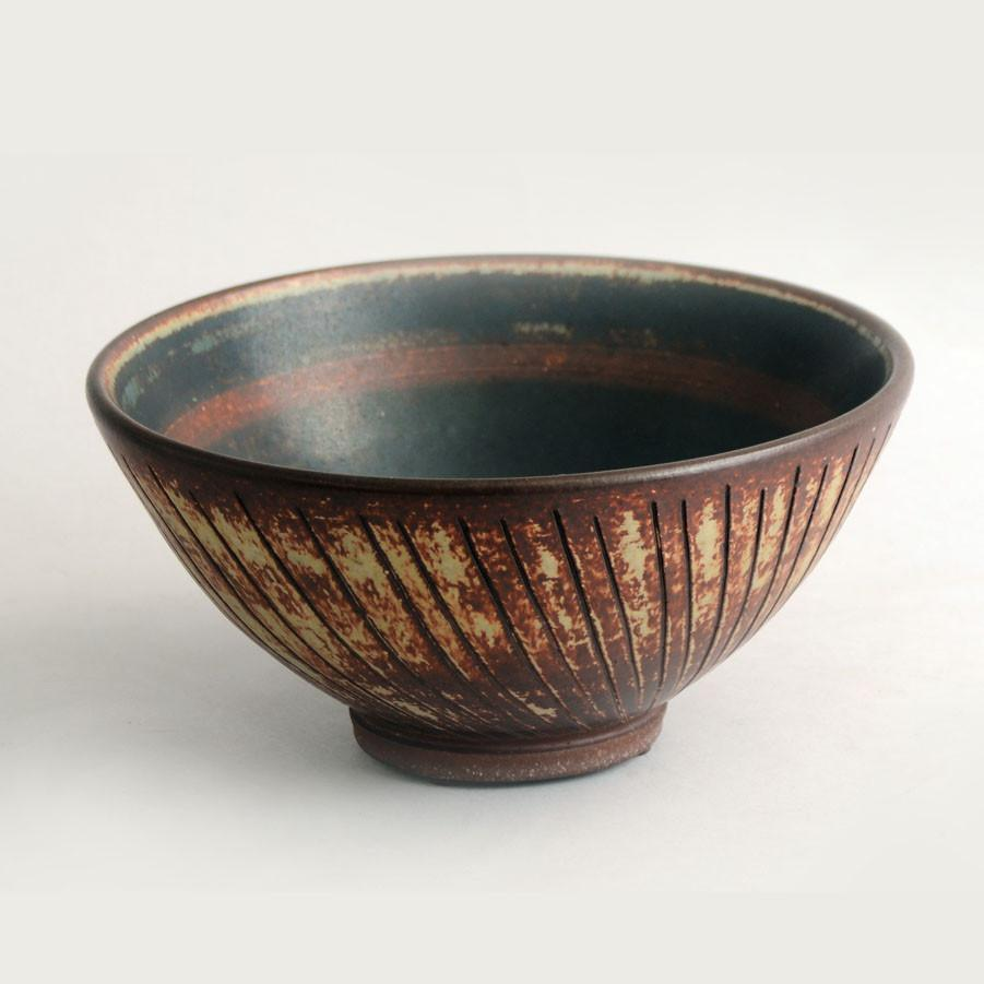 """Farsta"" bowl by Wilhelm Kage for Gustavsberg"