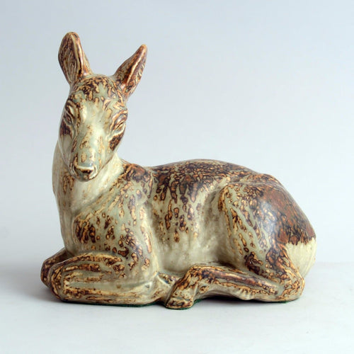 Sculpture of Deer by Knud Kyhn for Royal Copenhagen N3796