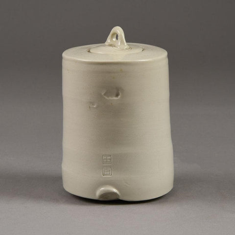 Stoneware jar with white glaze by Byron Temple N8326a