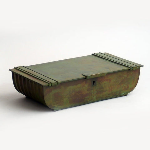 Bronze hinged and lidded box by Sune Backstroms