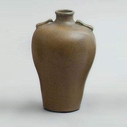 Stoneware vase with two decorative handles by Arne Bang