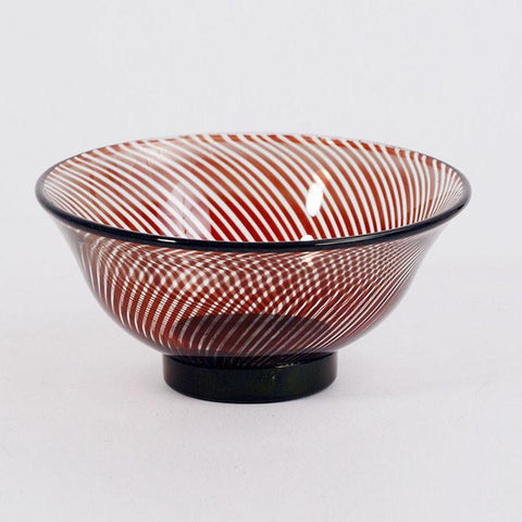 "Footed glass ""slip graal"" bowl by Edward Hald for Orrefors"