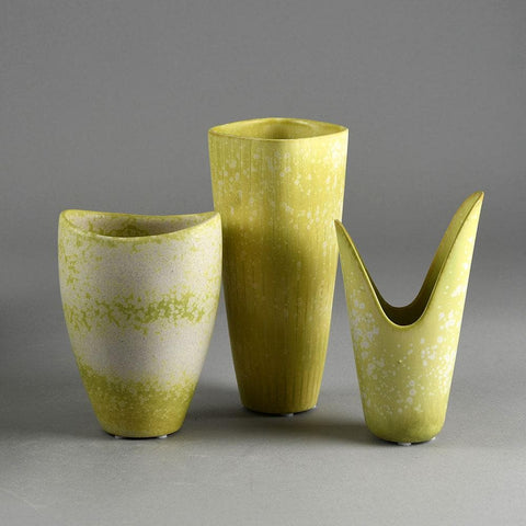 Group of yellow vases by Gunnar Nylund for Rorstrand