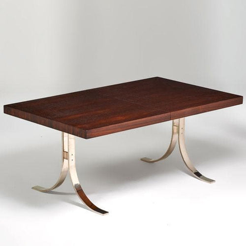 Rosewood and chrome table by Dyrlund